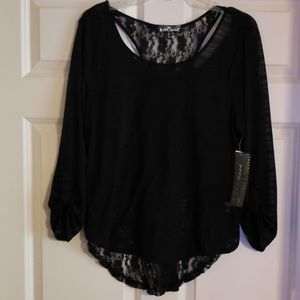 Almost Famous 2 layer lace shirt